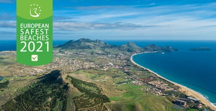 PORTO SANTO BEACH ELECTED ONE OF THE SAFEST BEACHES IN EUROPE IN 2021